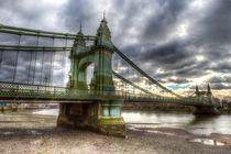 Hammersmith Bridge London von David Pyatt
