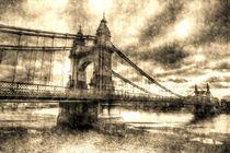 Hammersmith Bridge London Vintage by David Pyatt