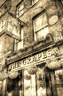 The Grapes Pub London Vintage by David Pyatt