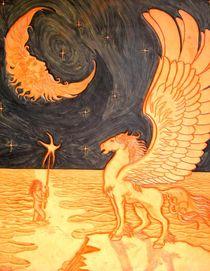 PEGASUS MOON AND MORNING STAR by Ron Moses