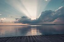Sonnenuntergang über dem Gardasee von Jochen Conrad
