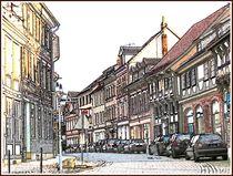~Street in Alfeld Old Town~ von Sandra  Vollmann