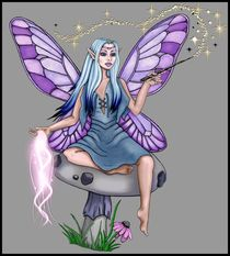 Mushroom Fairy by Sandra Gale