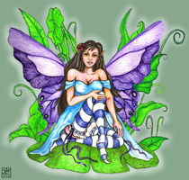 Lily Pad Fairy by Sandra Gale