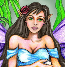 Lily Pad Fairy Close UP by Sandra Gale