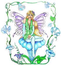 Morning Glory Fairy by Sandra Gale