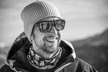 Portrait eines Mannes im Winter von Jochen Conrad