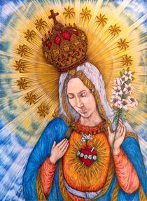 Immaculate Heart Of Virgin Mary von Kent Chua