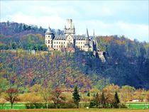 Landscape with Castle Marienburg by Sandra  Vollmann