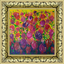 Sweet peas. Flowering meadow. In a frame von Yuri Hope