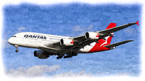 Qantas Airbus A380 Art by David Pyatt