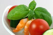 Gemüsespiess mit Garnelen III