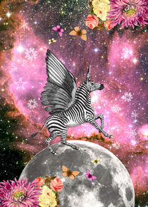 (Unicorn) Zebra Pegacorn by Gloria Sánchez