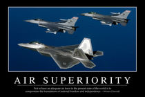 Air Superiority Motivational Poster by Stocktrek Images
