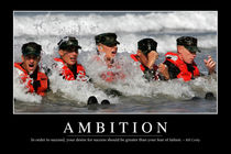 Ambition Motivational Poster von Stocktrek Images