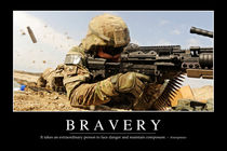 Bravery Motivational Poster by Stocktrek Images