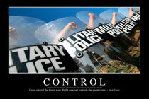 Control Motivational Poster by Stocktrek Images