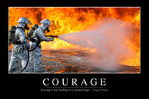 Courage Motivational Poster by Stocktrek Images
