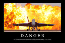 Danger Motivational Poster von Stocktrek Images