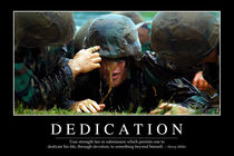 Dedication Motivational Poster by Stocktrek Images