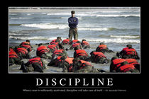Discipline Motivational Poster von Stocktrek Images