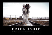 Friendship Motivational Poster by Stocktrek Images