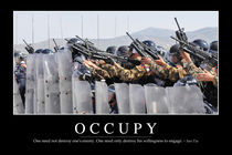 Occupy Motivational Poster von Stocktrek Images