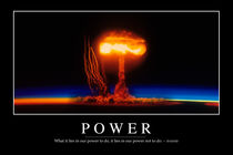 Power Motivational Poster von Stocktrek Images