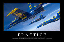 Practice Motivational Poster von Stocktrek Images