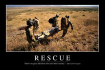 Rescue Motivational Poster von Stocktrek Images
