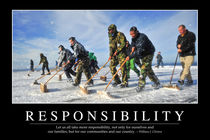Responsibility Motivational Poster by Stocktrek Images