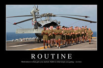 Routine Motivational Poster by Stocktrek Images