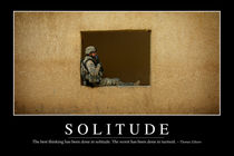 Solitude Motivational Poster by Stocktrek Images