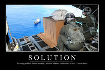 Solution Motivational Poster by Stocktrek Images