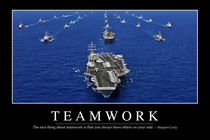 Teamwork Motivational Poster von Stocktrek Images