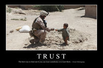 Trust Motivational Poster von Stocktrek Images