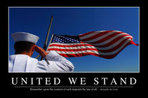 United We Stand Motivational Poster von Stocktrek Images