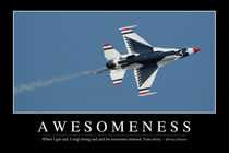 Awesomeness Motivational Poster von Stocktrek Images