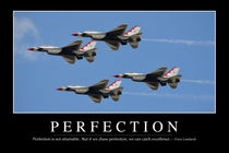 Perfection Motivational Poster von Stocktrek Images