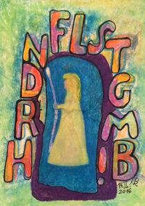 Kunstsiegel - Gegen Not,Frieden behüten von Barbara Richter