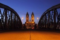 Abendstimmung Wiwilibrücke Freiburg von Patrick Lohmüller