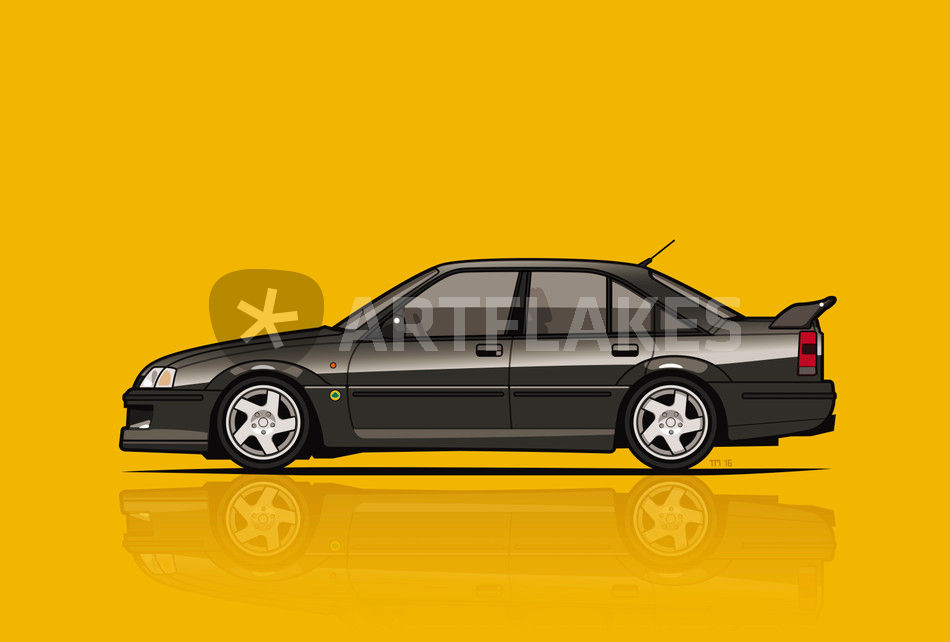 Illu Lotus Omega Carlton Poster Yellow