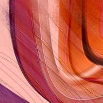 Farbverlauf lila und orange von Christine Bässler