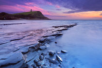 Sunset at Kimmeridge Bay in southern England von Sara Winter