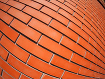 New red brick wall with distortion lens von Vladislav Romensky
