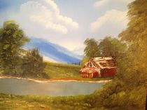 Cabin on the Hillside by Bonnie Boerger