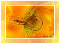 Digital gelbe Blitze von bilddesign-by-gitta