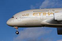 Etihad Airlines Airbus A380 by David Pyatt