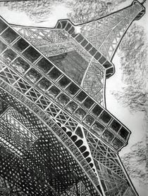 Eiffelturm in Kohle von Hans-Georg Kasper