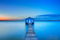 Sunrise at Matilda Bay boathouse in Perth, Australia by Sara Winter